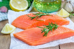 wild salmon filet contains omega-3