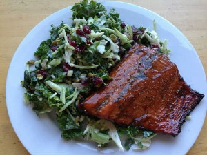 Avoid Processed Foods. Salad with salmon...a better choice!