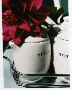 cream and sugar for coffee