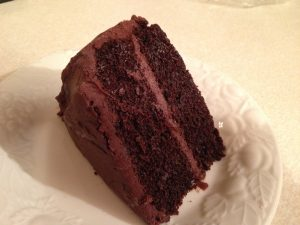 Traditional Chocolate Cake is Not Part of Eating Healthy Food