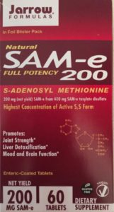 SAM-e your brain your liver and your joints